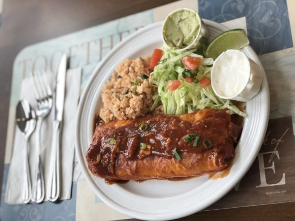 Beef Enchiladas, Spanish Rice, Guacamole Salad